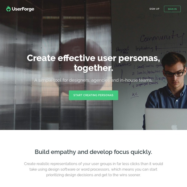 UserForge - A simple tool for collaborative user persona development