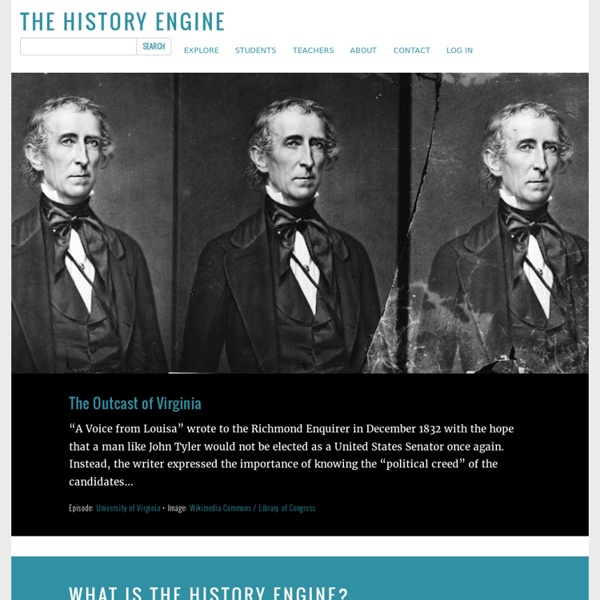 History Engine: Tools for Collaborative Education and Research