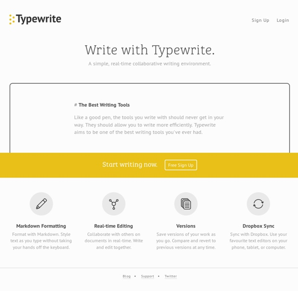 Typewrite - Simple, Real-time Collaborative Writing Environment
