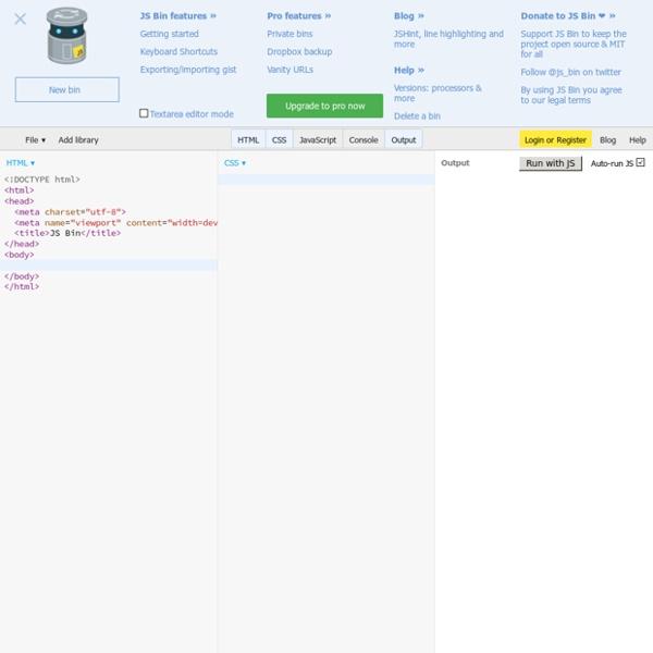 JS Bin - Collaborative JavaScript Debugging