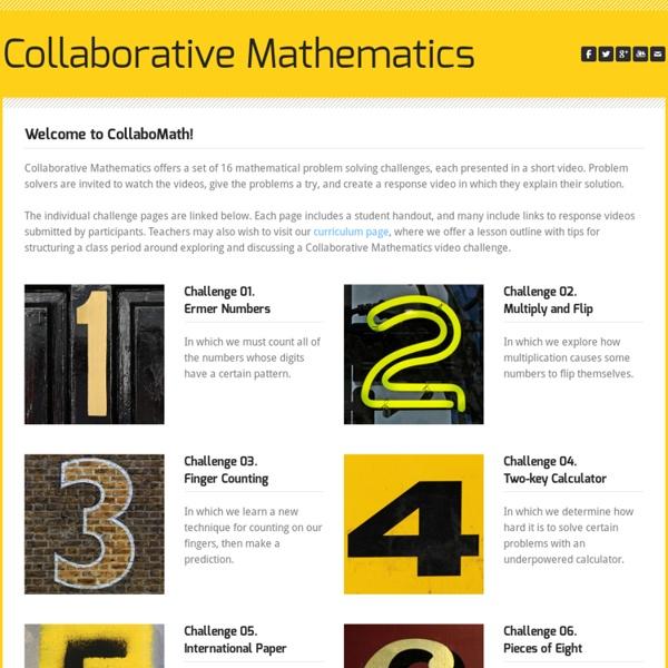 Collaborative Mathematics - Current Challenge Video