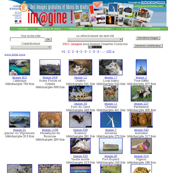 Im@gine! : banque d'images libres de droits et gratuites pour l'éducation, collaborative de l'Académie de Montpellier - Iceweasel