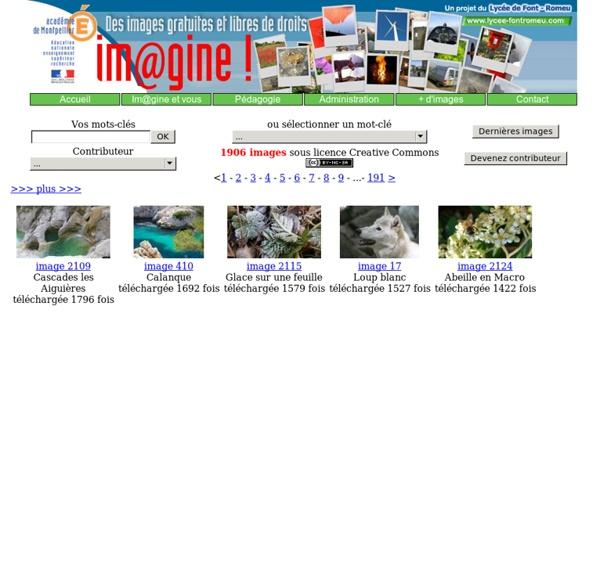 Im@gine! : banque d'images libres de droits et gratuites