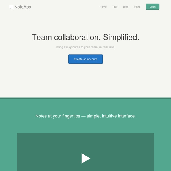 NoteApp - Simple, Collaborative Notetaking