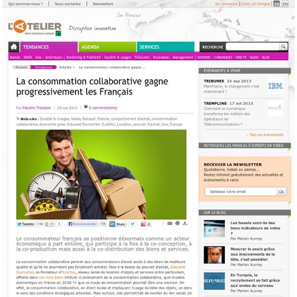 La consommation collaborative gagne progressivement les Français