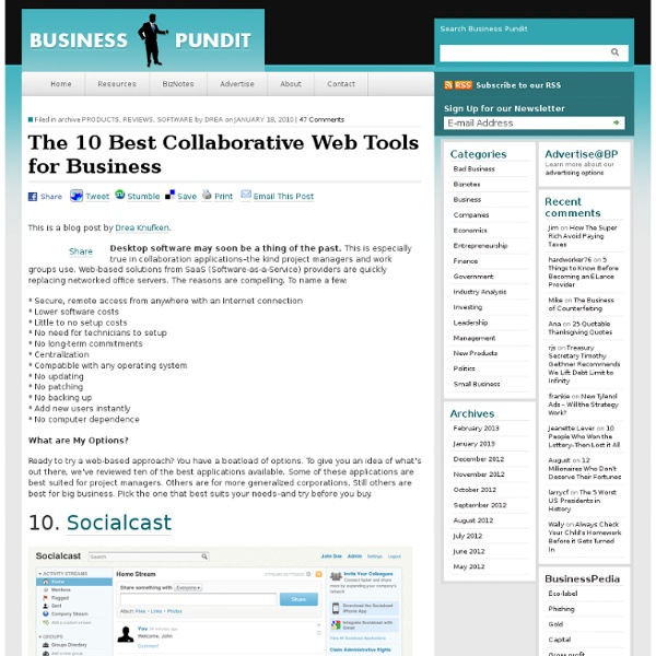 10 Collaborative Web Tools for Business