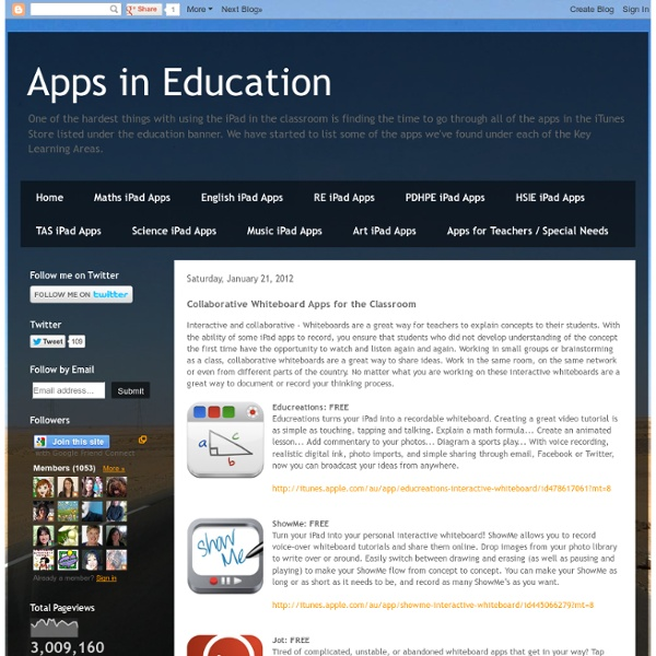 Collaborative Classroom App ~ Collaborative whiteboard apps for the classroom pearltrees