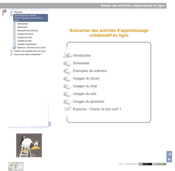 Animer des activités collaboratives en ligne - Scénariser des activités d'apprentissage collaboratif en ligne
