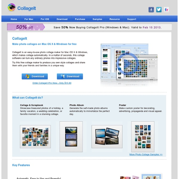 Free Photo Collage Maker for Mac OS X & Windows - CollageIt