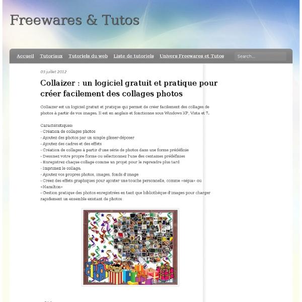 Collaizer : un logiciel gratuit et pratique pour créer facilement des collages photos