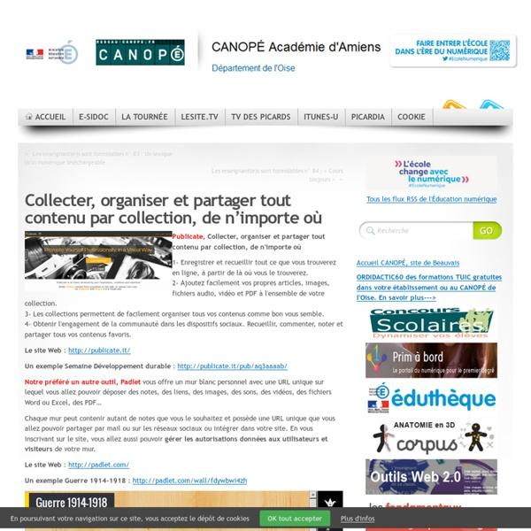 CDDP de l'Oise - Collecter, organiser et partager tout contenu par collection, de n'importe où