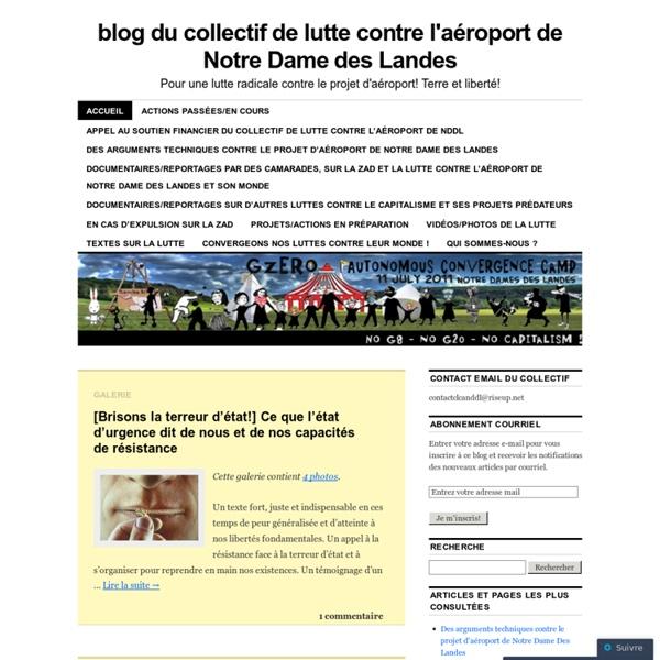 Blog du collectif de lutte contre l'aéroport de Notre Dame des Landes