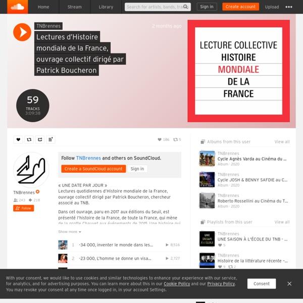 """Lectures d'""""Histoire mondiale de la France"""", ouvrage collectif dirigé par Patrick Boucheron par TNBrennes"""