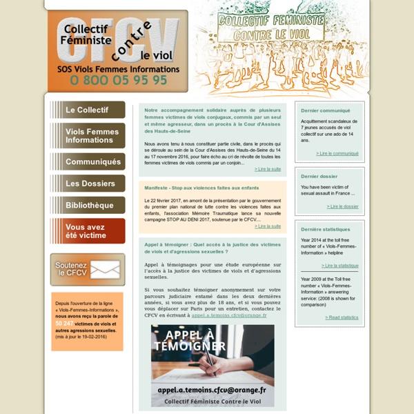 CFCV, Collectif Féministe Contre le Viol