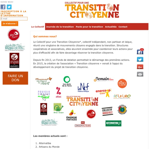 Collectif Transition - COLLECTIF POUR UNE TRANSITION CITOYENNE
