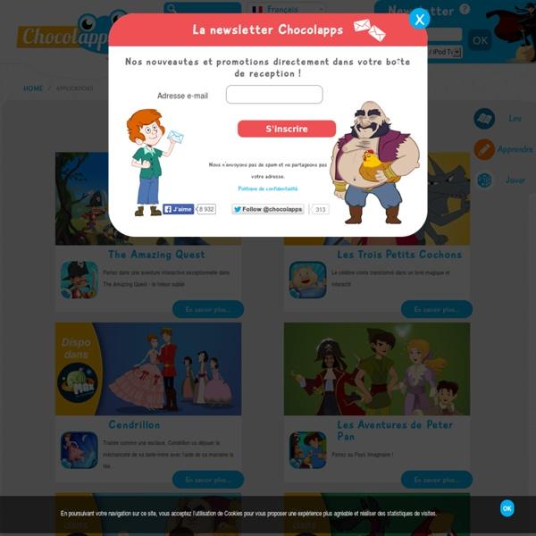 Notre collection d'applications pour enfants: livres et jeux éducatifs - chocolapps