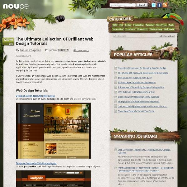 The Ultimate Collection Of Brilliant Web Design Tutorials
