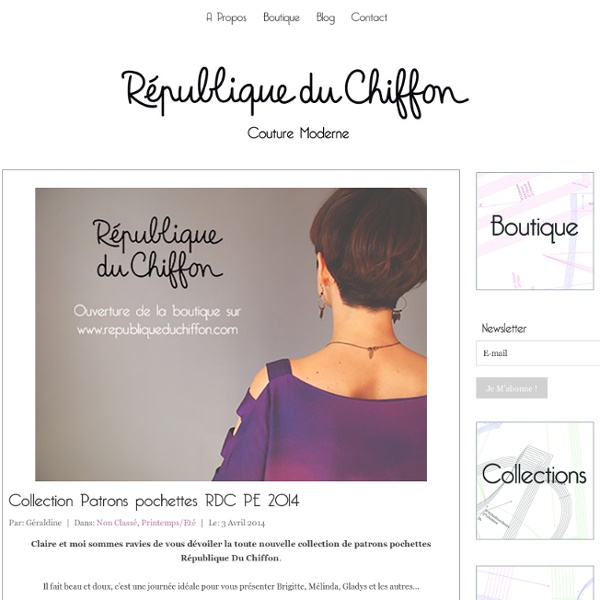 Patrons pochettes RDC Collection PE 2014 - République du ChiffonRépublique du Chiffon