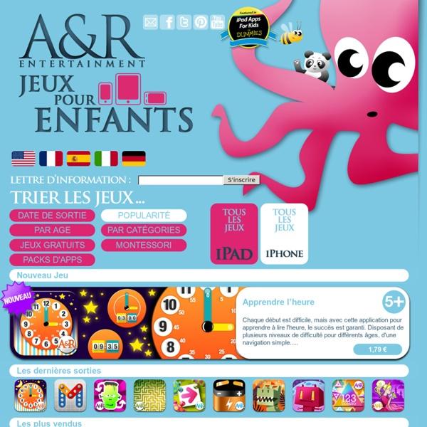Collection de jeux educatifs et de livres interactifs pour les enfants Apprendre en s'amusant pour iPhone, iPad, iPod Touch, Android
