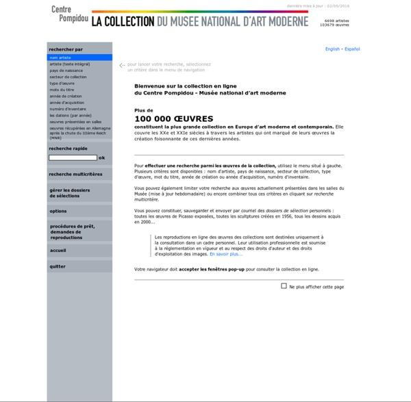 La collection en ligne du Centre Pompidou - Musée national d'art moderne