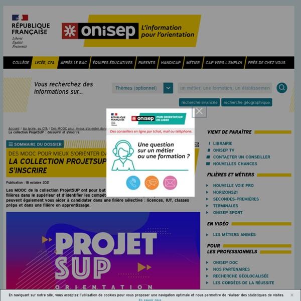 La collection ProjetSUP : découvrir et s'inscrire