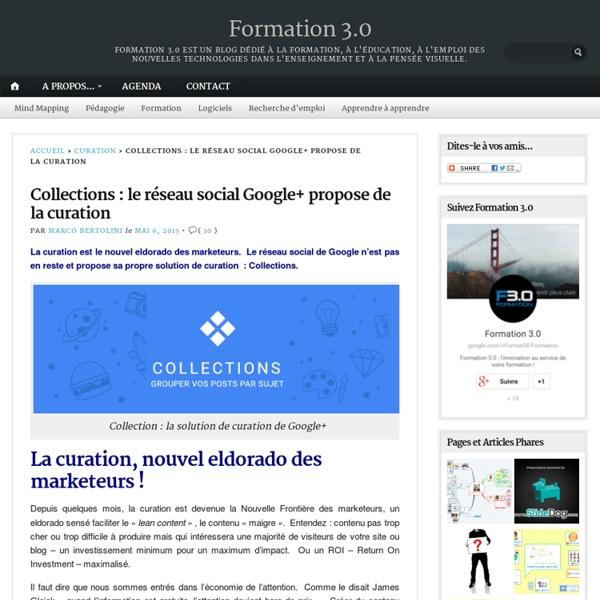 Collections : le réseau social Google+ propose de la curation