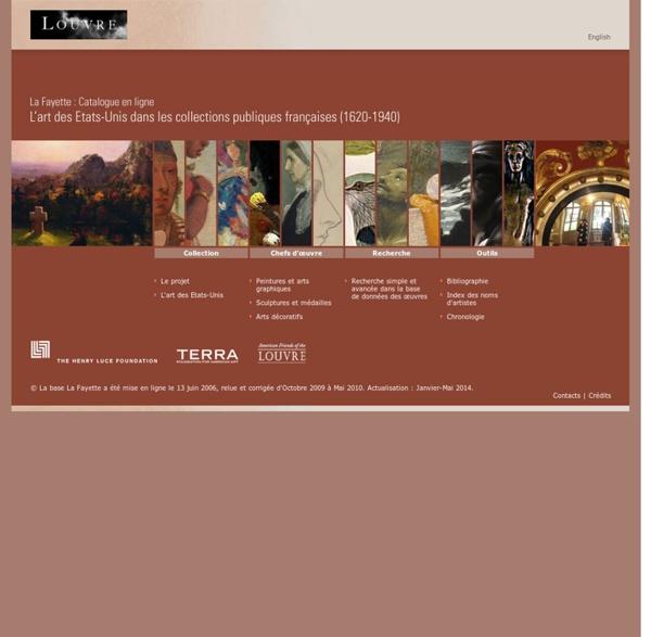 La Fayette : Catalogue en ligne - L'art des États-Unis dans les collections publiques françaises (1620-1940)