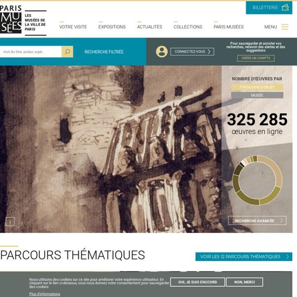 Les collections en ligne des musées de la Ville de Paris