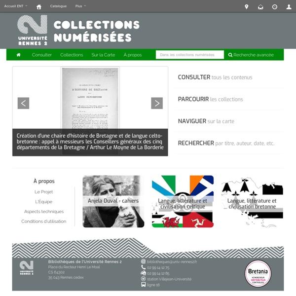 Collections numérisées - Université de Rennes 2