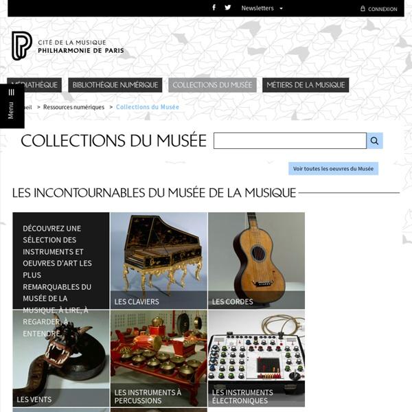 Collections du Musée de la musique - Philharmonie de Paris - Pôle ressources - Accueil Musee