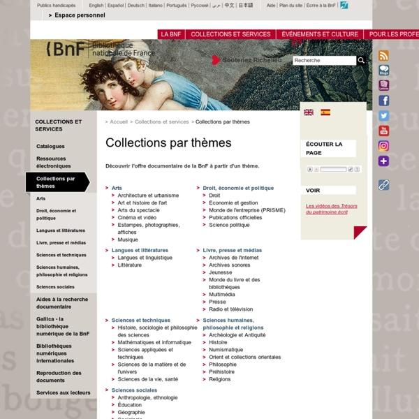 Collections par thèmes