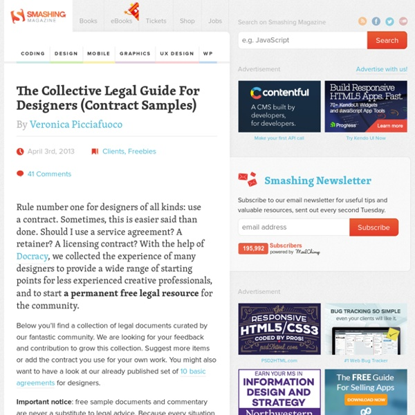 The Collective Legal Guide For Designers (Contract Samples)