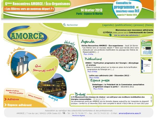 AMORCE : Association des collectivités locales et des professionnels pour une bonne gestion locale des déchets et de l'énergie