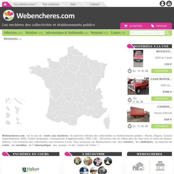 Webenchères : Vente de matériel d'occasion des mairies et des collectivités publiques