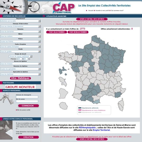 Le Site emploi des collectivités territoriales
