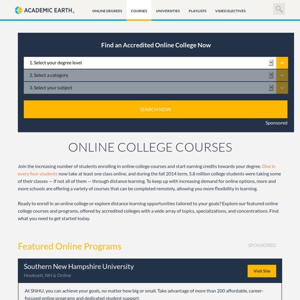 Online College Courses - Explore 50+ Subjects