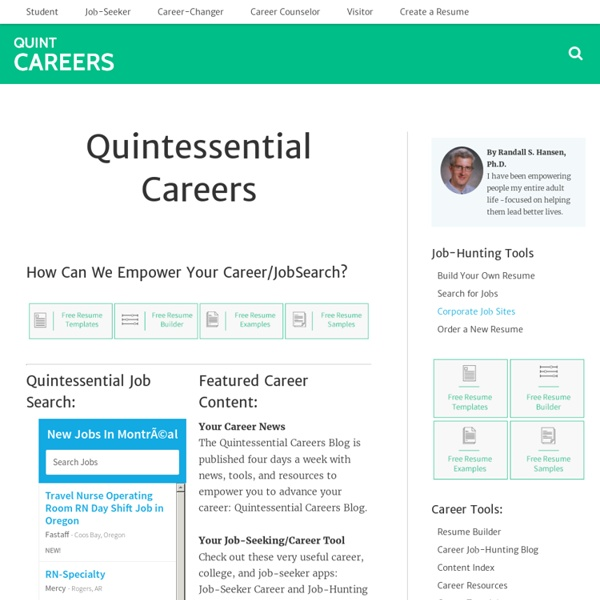 Quintessential Careers: College, Careers, and Jobs Guide