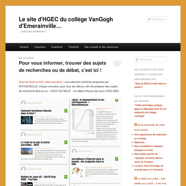 Le site d'HGEC du collège VanGogh d'Emerainville...