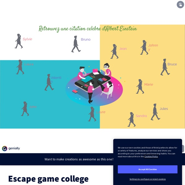 Escape game college by fgendre7 on Genially