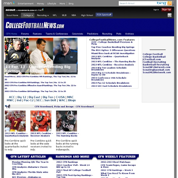 college foo college football news front page