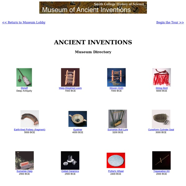 College Museum of Ancient Inventions: Museum Directory