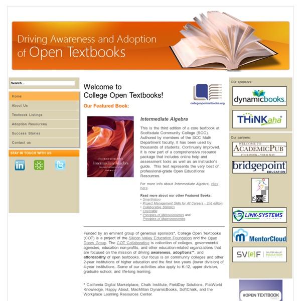 College Open Textbooks - College Open Textbooks