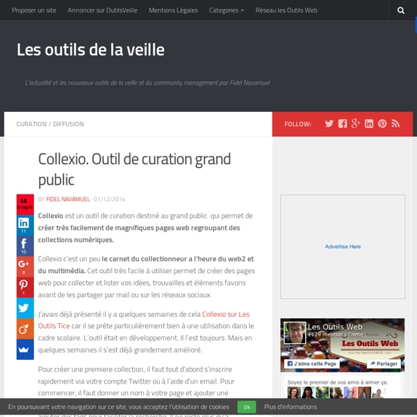 Collexio. Outil de curation grand public