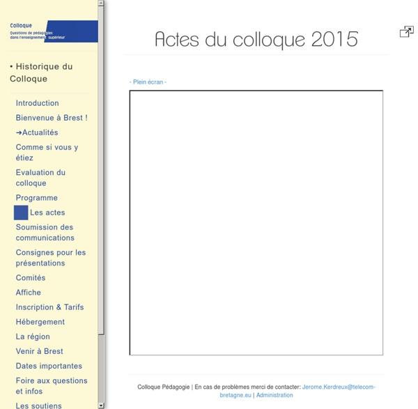 Actes du colloque 2015 pedago univ. BREST