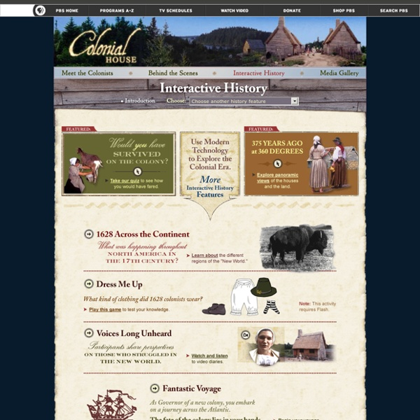 Colonial House . Interactive History