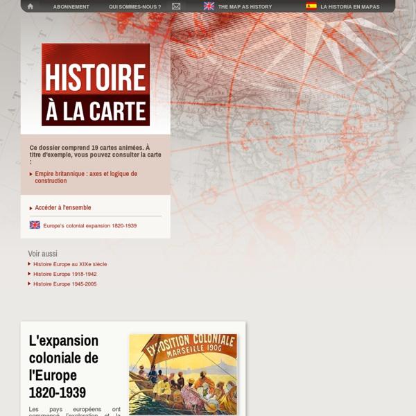 Carte et histoire coloniale: colonisation Afrique et Asie, empire colonial français, empire britannique