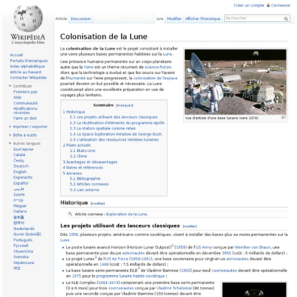 Colonisation de la Lune