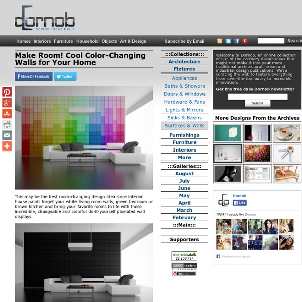 Make Room! Cool Color-Changing Walls for Your Home