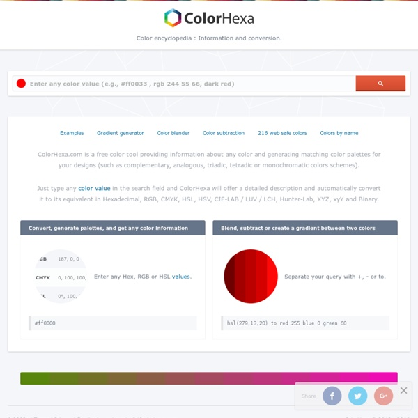 Color Hex - ColorHexa.com