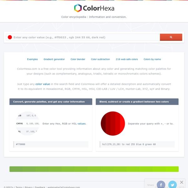 Color Hex - ColorHexa.com